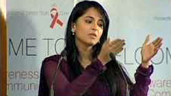 Indian Actress, Anushka Shetty, speaks on TeachAIDS